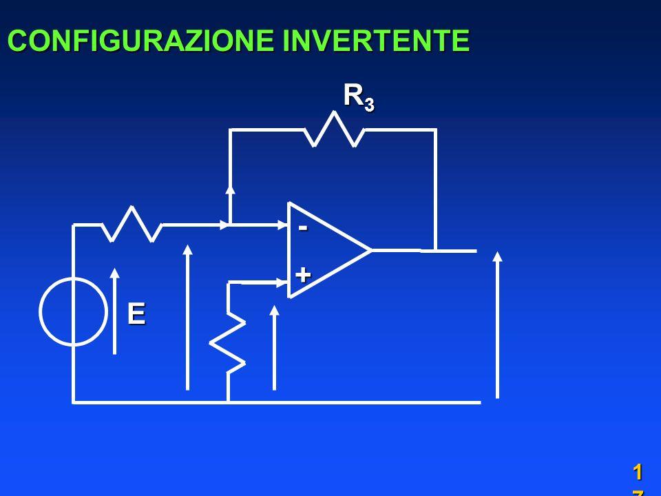 1717 CONFIGURAZIONE INVERTENTE E + - R3R3R3R3