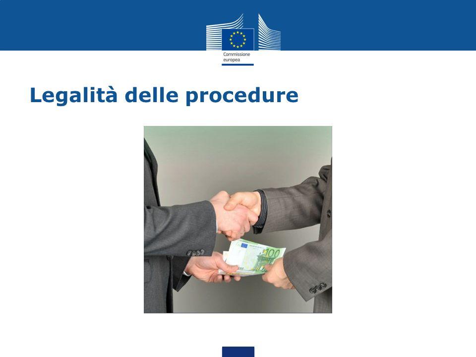 Legalità delle procedure