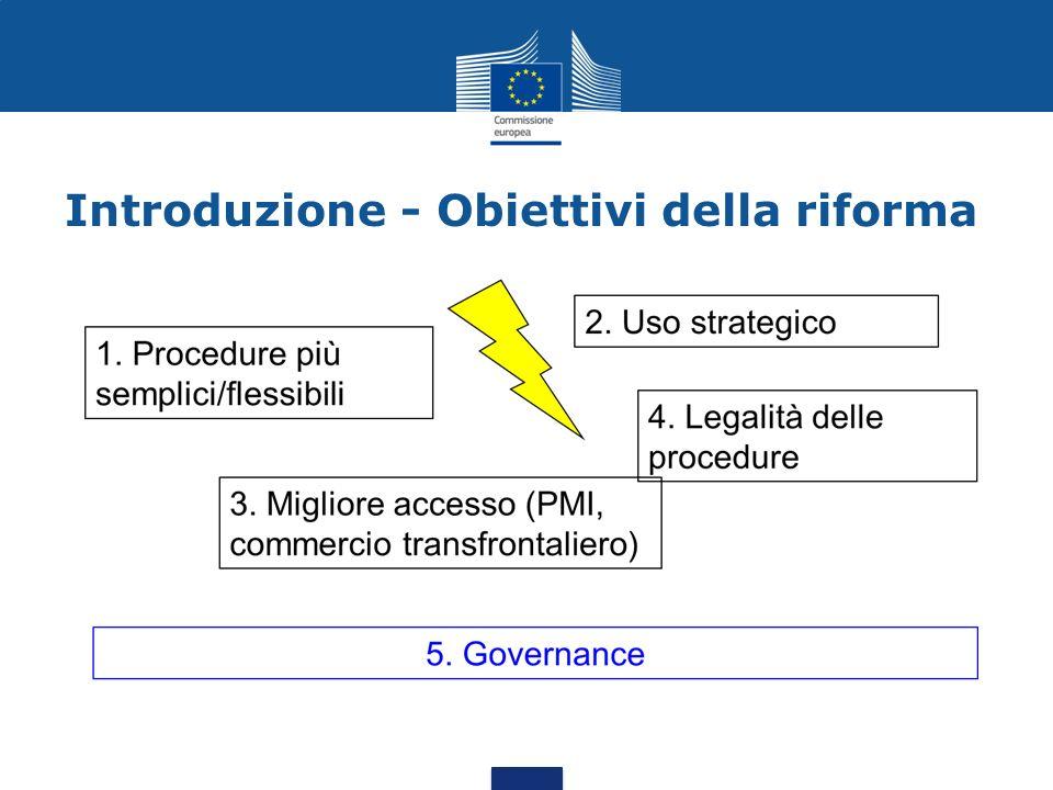 Introduzione - Obiettivi della riforma