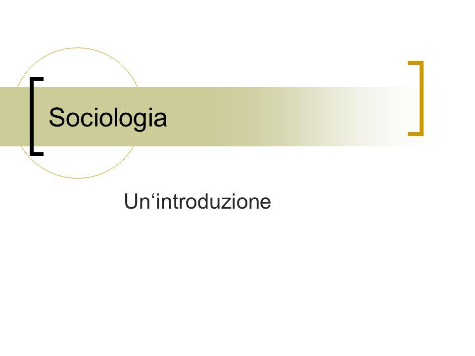 Sociologia Unintroduzione