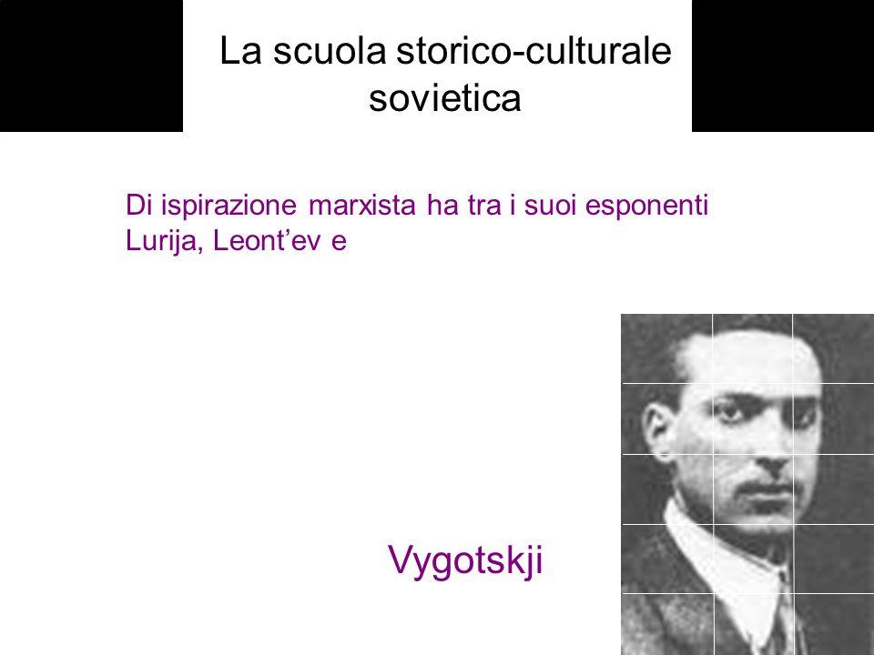 La scuola storico-culturale sovietica Di ispirazione marxista ha tra i suoi esponenti Lurija, Leontev e Vygotskji
