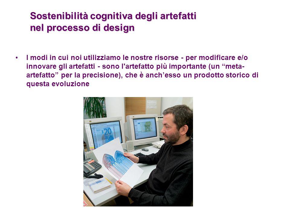 Sostenibilità cognitiva degli artefatti nel processo di design I modi in cui noi utilizziamo le nostre risorse - per modificare e/o innovare gli artef