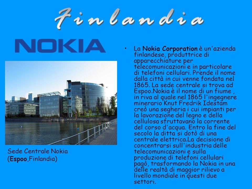 La Nokia Corporation è un azienda finlandese, produttrice di apparecchiature per telecomunicazioni e in particolare di telefoni cellulari.