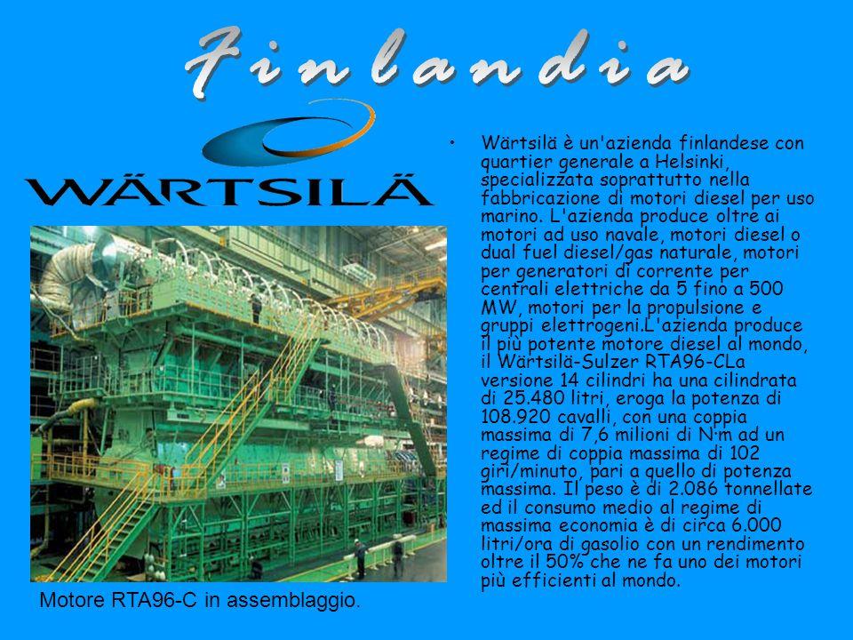 Wärtsilä è un azienda finlandese con quartier generale a Helsinki, specializzata soprattutto nella fabbricazione di motori diesel per uso marino.