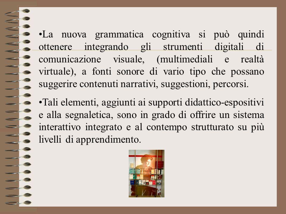 La nuova grammatica cognitiva si può quindi ottenere integrando gli strumenti digitali di comunicazione visuale, (multimediali e realtà virtuale), a f