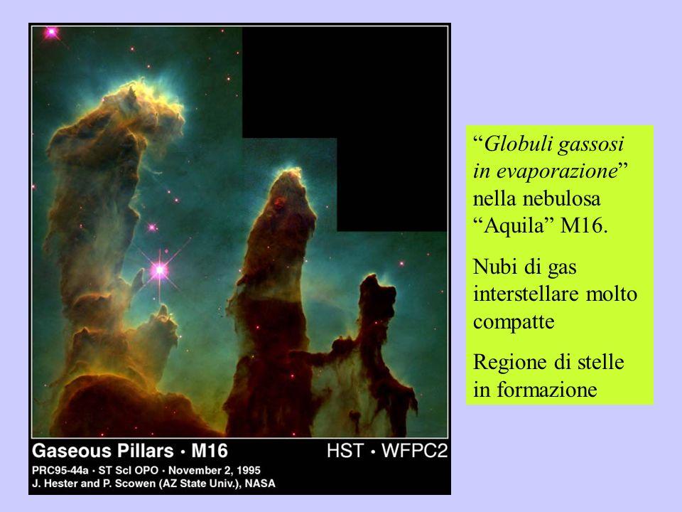 Globuli gassosi in evaporazione nella nebulosa Aquila M16. Nubi di gas interstellare molto compatte Regione di stelle in formazione