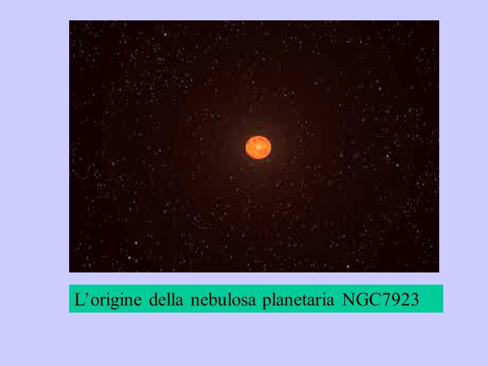 Lorigine della nebulosa planetaria NGC7923