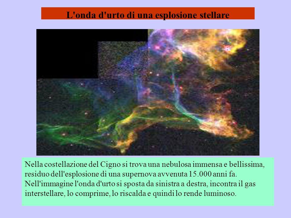 L'onda d'urto di una esplosione stellare Nella costellazione del Cigno si trova una nebulosa immensa e bellissima, residuo dell'esplosione di una supe