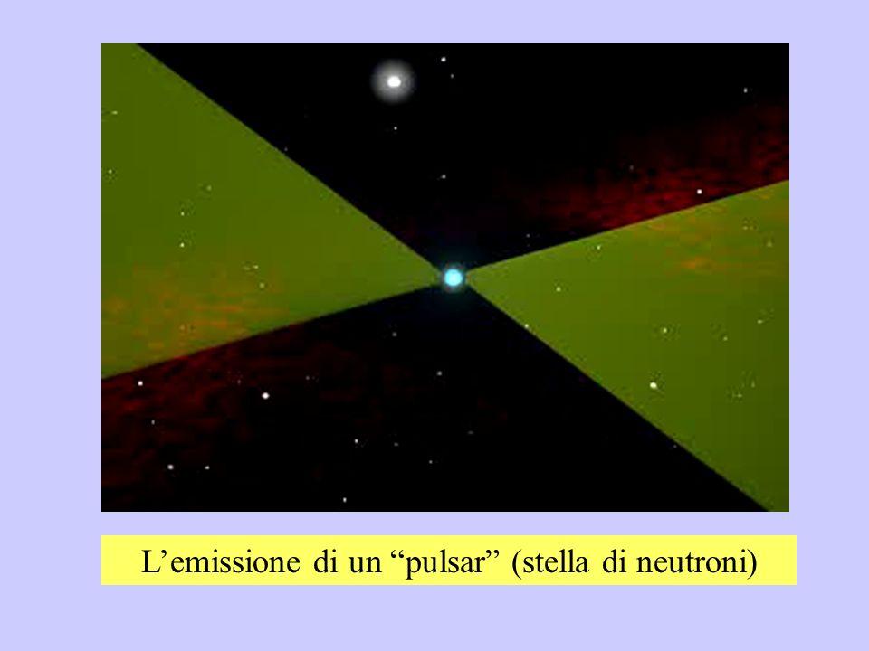 Lemissione di un pulsar (stella di neutroni)