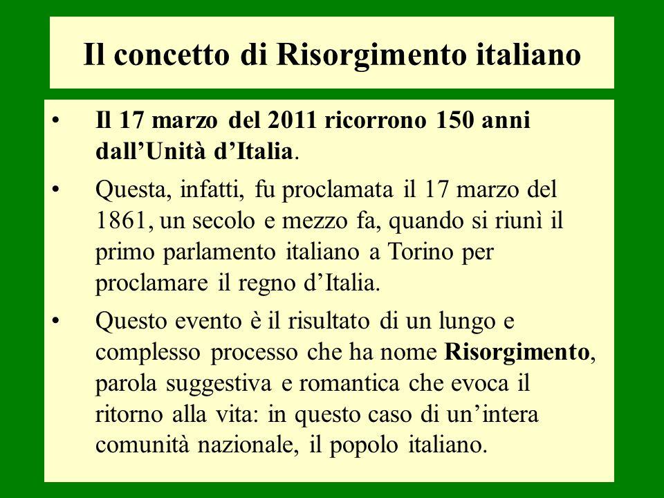Il 17 marzo del 2011 ricorrono 150 anni dallUnità dItalia. Questa, infatti, fu proclamata il 17 marzo del 1861, un secolo e mezzo fa, quando si riunì