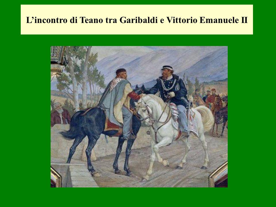 Lincontro di Teano tra Garibaldi e Vittorio Emanuele II