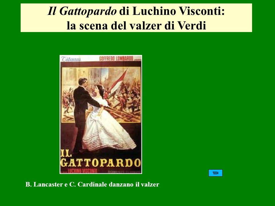 Il Gattopardo di Luchino Visconti: la scena del valzer di Verdi B. Lancaster e C. Cardinale danzano il valzer