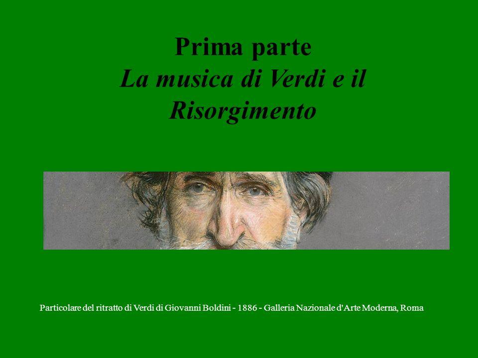 Prima parte La musica di Verdi e il Risorgimento Particolare del ritratto di Verdi di Giovanni Boldini - 1886 - Galleria Nazionale d'Arte Moderna, Rom