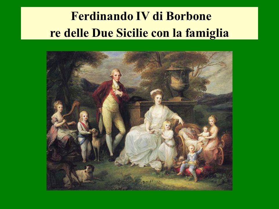 Ferdinando IV di Borbone re delle Due Sicilie con la famiglia
