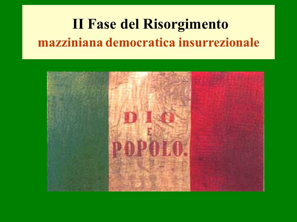II Fase del Risorgimento mazziniana democratica insurrezionale