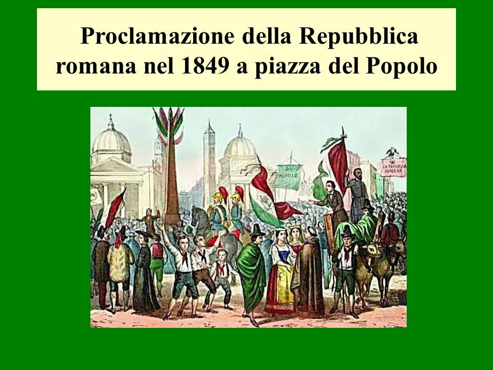 Proclamazione della Repubblica romana nel 1849 a piazza del Popolo