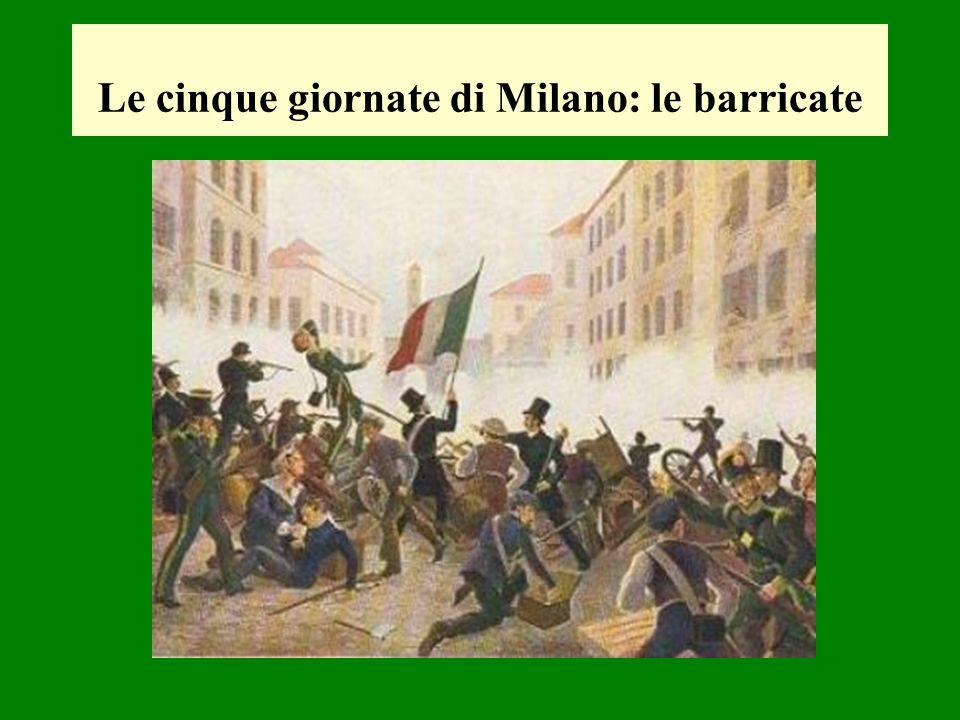 Le cinque giornate di Milano: le barricate