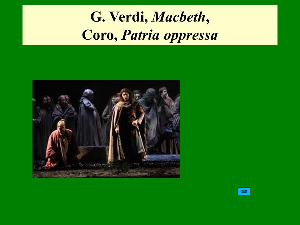 G. Verdi, Macbeth, Coro, Patria oppressa