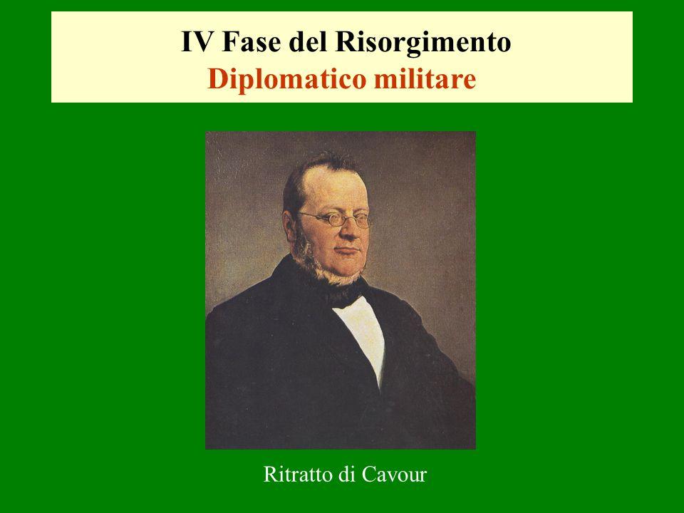 IV Fase del Risorgimento Diplomatico militare Ritratto di Cavour