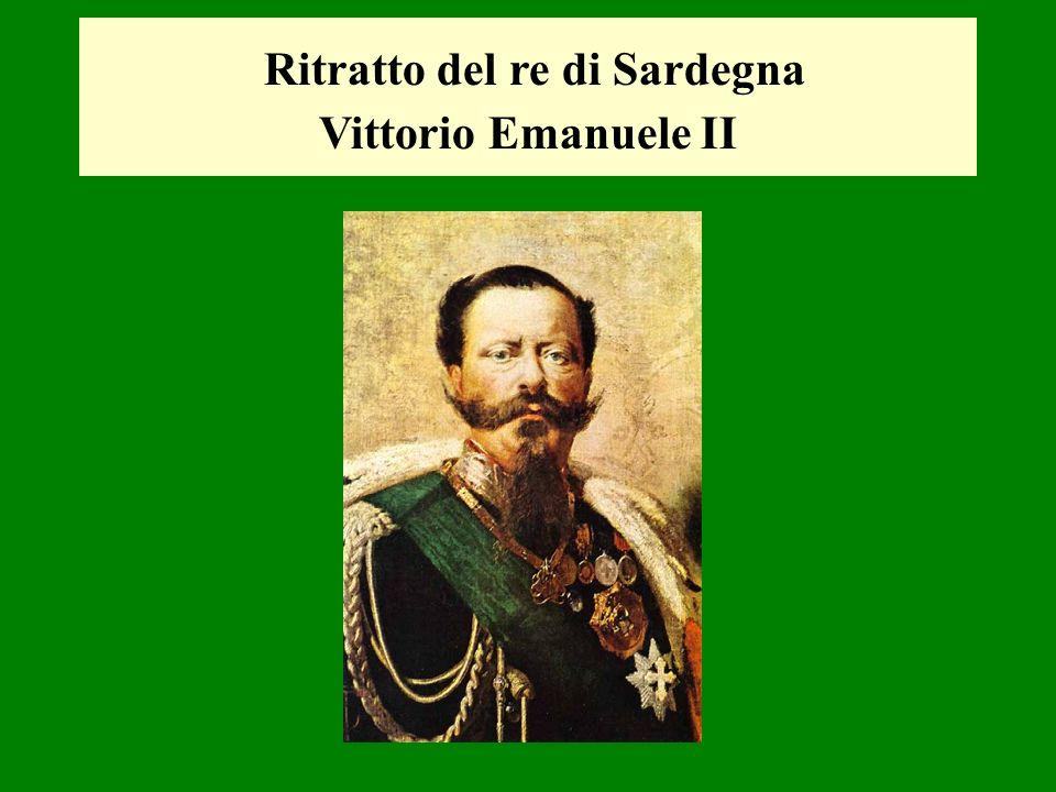 Ritratto del re di Sardegna Vittorio Emanuele II