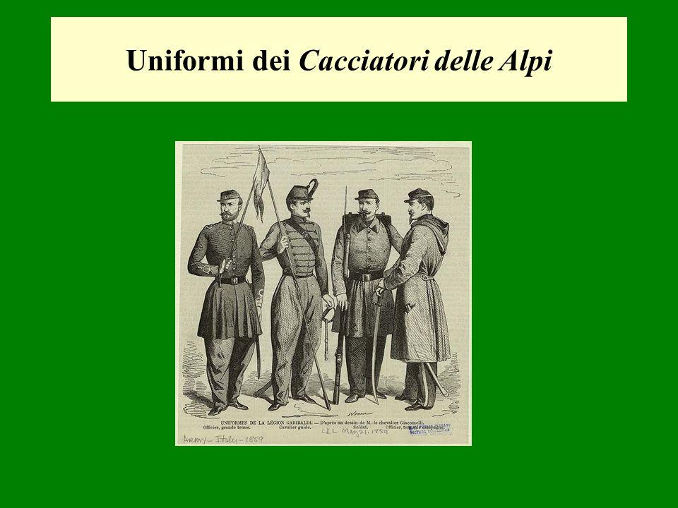 Uniformi dei Cacciatori delle Alpi