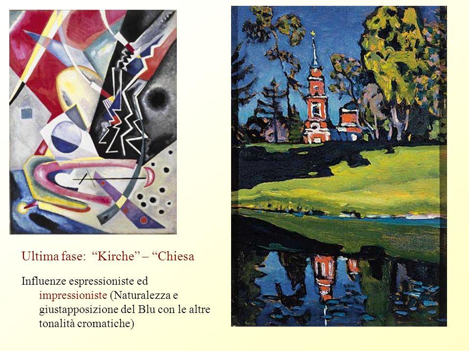 Franz Marc da Teoria della forma e della figurazione Titolo ANTINATURALISTA Blaue Pferde – Cavalli Azzurri Coesistenza espressionismo e cubismo e richiamo ai Fauves INCONSCIO, LINEA CURVA e SINUOSA,
