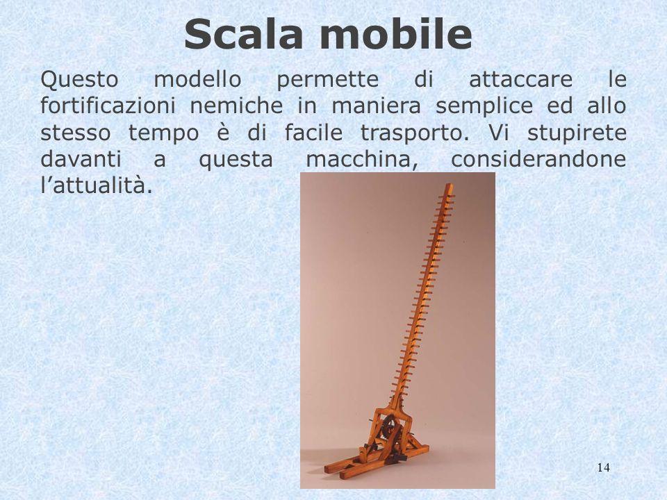 14 Scala mobile Questo modello permette di attaccare le fortificazioni nemiche in maniera semplice ed allo stesso tempo è di facile trasporto. Vi stup