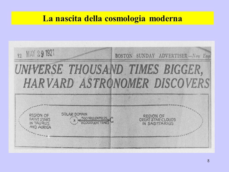 8 La nascita della cosmologia moderna