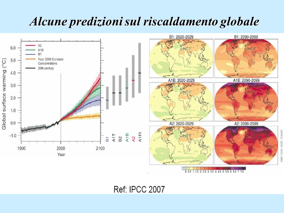 Alcune predizioni sul riscaldamento globale
