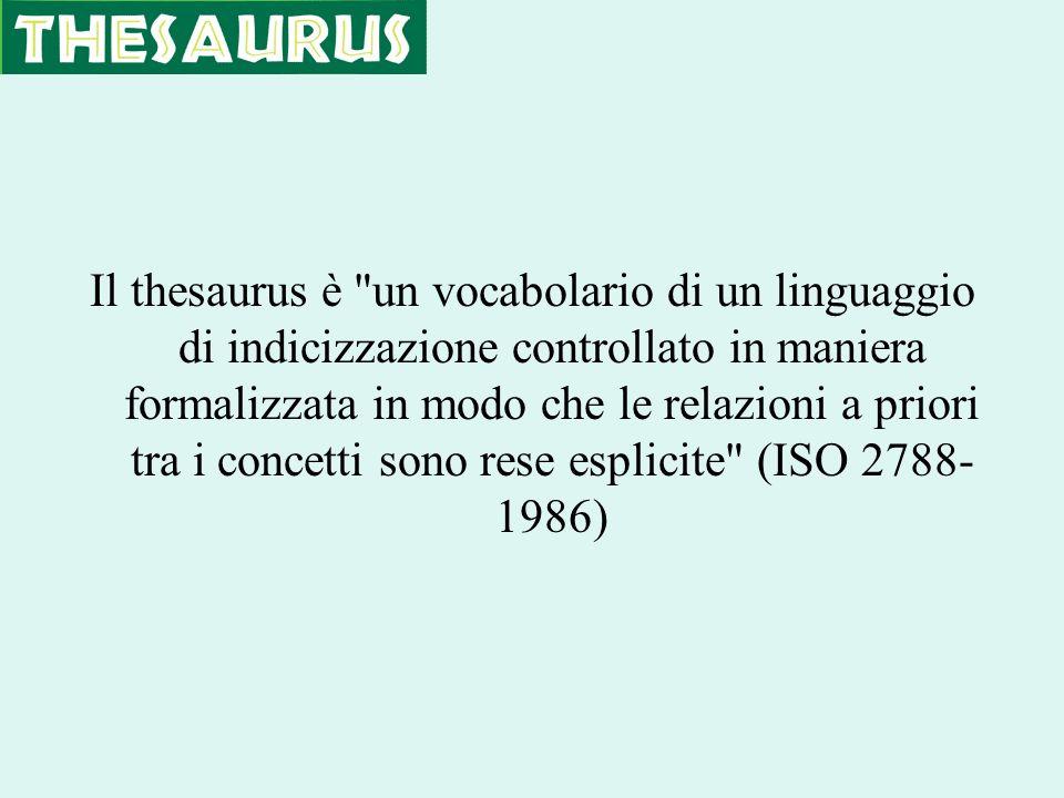 Il thesaurus è