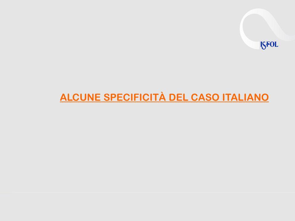 ALCUNE SPECIFICITÀ DEL CASO ITALIANO