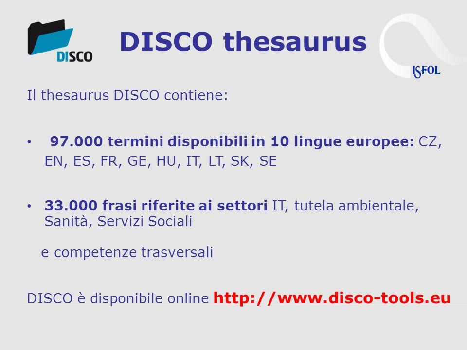 3s Unternehmensberatung, www.3s.co.at DISCO Thesaurus