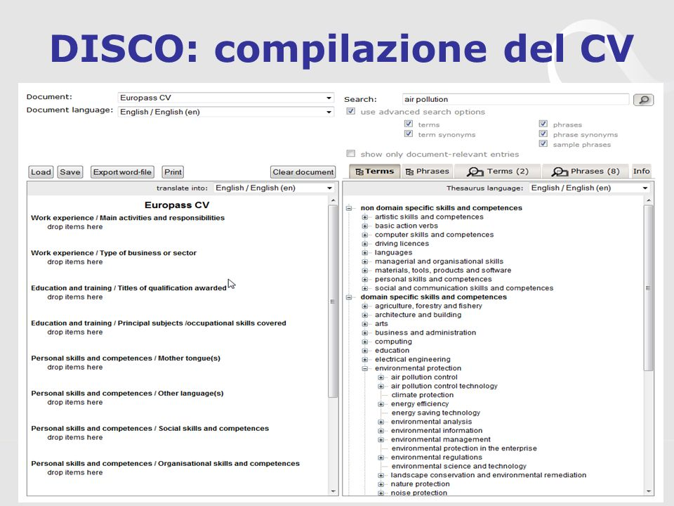 3s Unternehmensberatung, www.3s.co.at DISCO: compilazione del CV