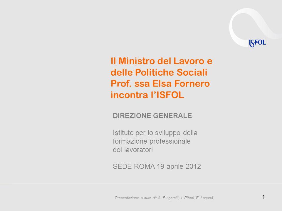 1 Il Ministro del Lavoro e delle Politiche Sociali Prof.