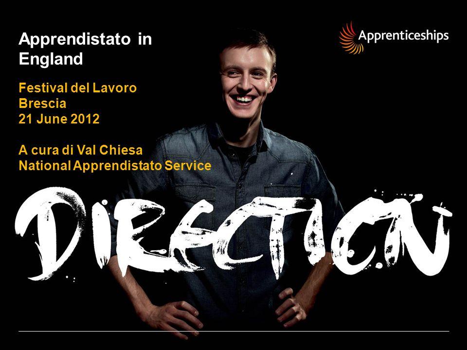 Apprendistato in England Festival del Lavoro Brescia 21 June 2012 A cura di Val Chiesa National Apprendistato Service