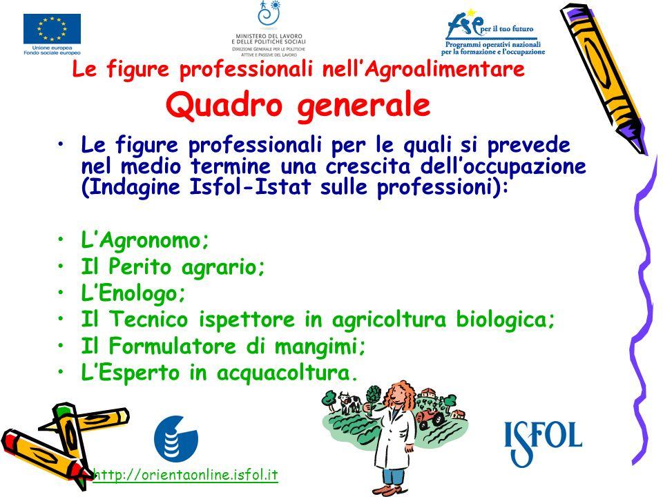 IL TECNICO ISPETTORE IN AGRICOLTURA BIOLOGICA FORMAZIONE: Laurea specialistica in Agricoltura biologica, in Biotecnologie vegetali o in Sviluppo rurale sostenibile.