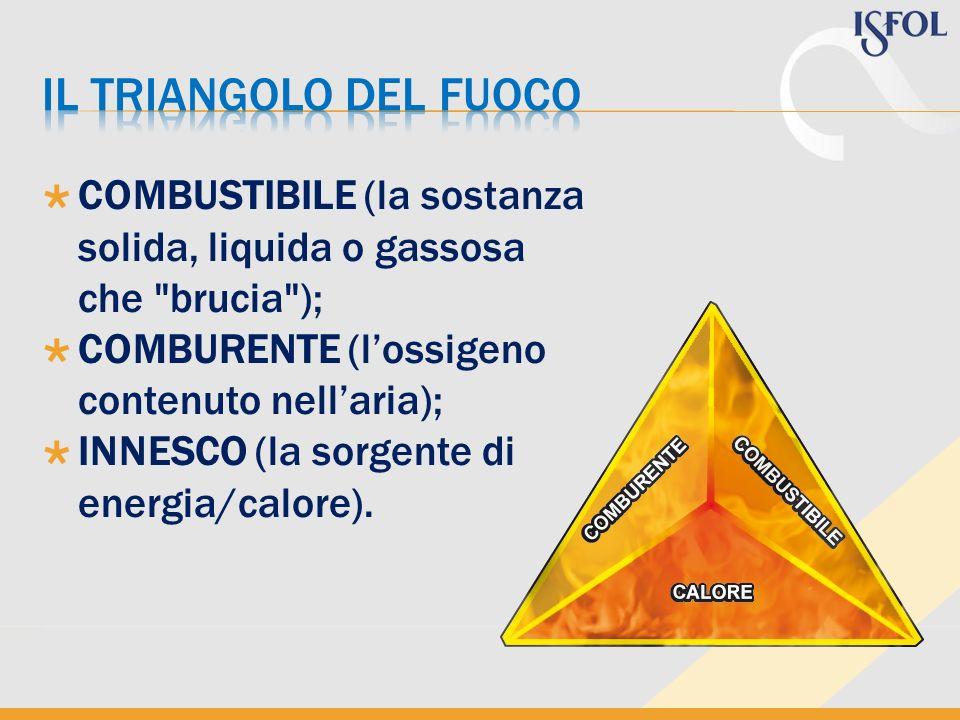 COMBUSTIBILE (la sostanza solida, liquida o gassosa che