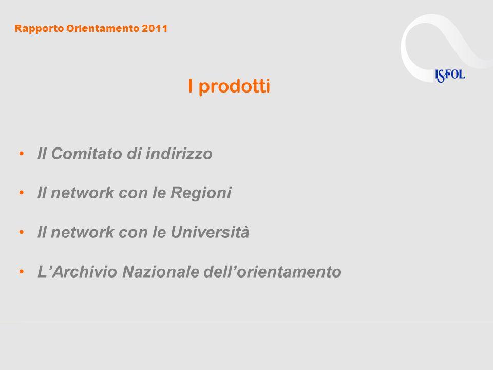 Rapporto Orientamento 2011 QUATTRO PUNTI DI ATTENZIONE 1.