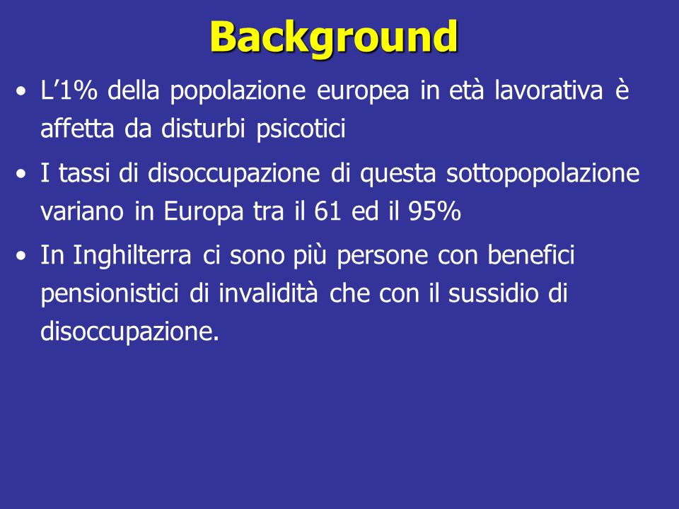 IPS: Individual Placement and Support lesperienza italiana Angelo Fioritti – DSM-DP AUSL Bologna Corrado Cappa– DSM-DP AUSL Piacenza