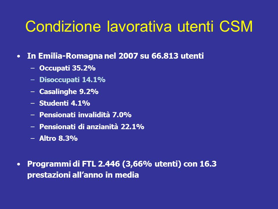 PROGETTO TIPS 2011 TRAINING ON INDIVIDUAL PLACEMENT & SUPPORT