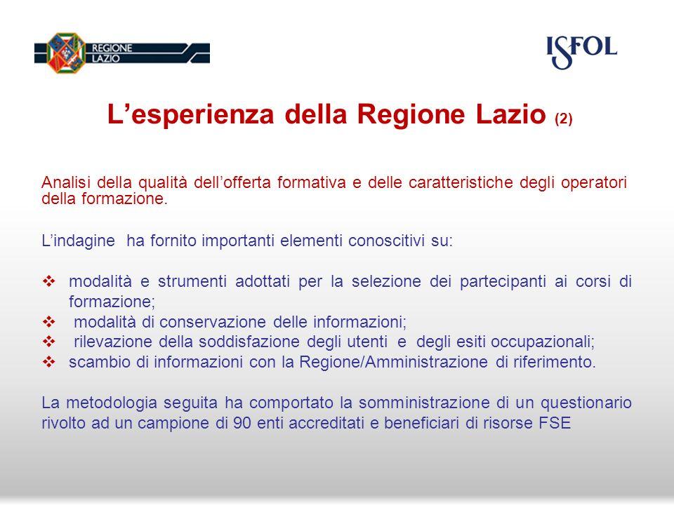 Analisi della condizione occupazionale di un gruppo di destinatari formati nel periodo gennaio 2010-giugno 2011, a sei mesi e a dodici mesi in relazione ai seguenti criteri: Competenza; Frequenza; Qualifica; Riqualificazione; specializzazione.