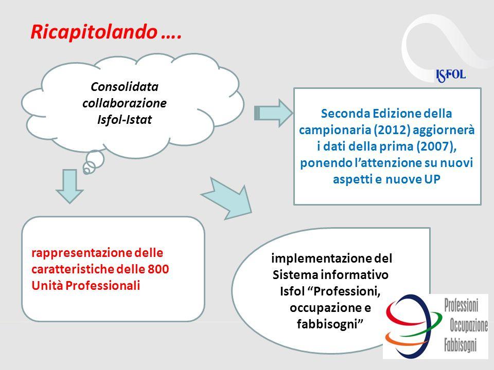 13 Ricapitolando …. Consolidata collaborazione Isfol-Istat Seconda Edizione della campionaria (2012) aggiornerà i dati della prima (2007), ponendo lat
