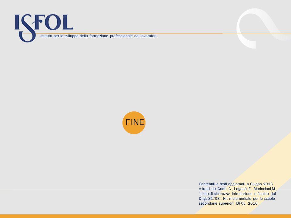 Istituto per lo sviluppo della formazione professionale dei lavoratori FINE Contenuti e testi aggiornati a Giugno 2013 e tratti da: Conti, C., Laganà,