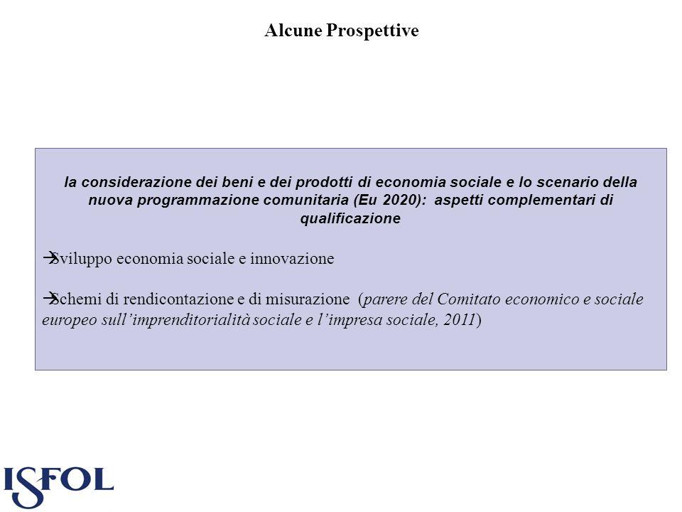 Alcune Prospettive la considerazione dei beni e dei prodotti di economia sociale e lo scenario della nuova programmazione comunitaria (Eu 2020): aspet