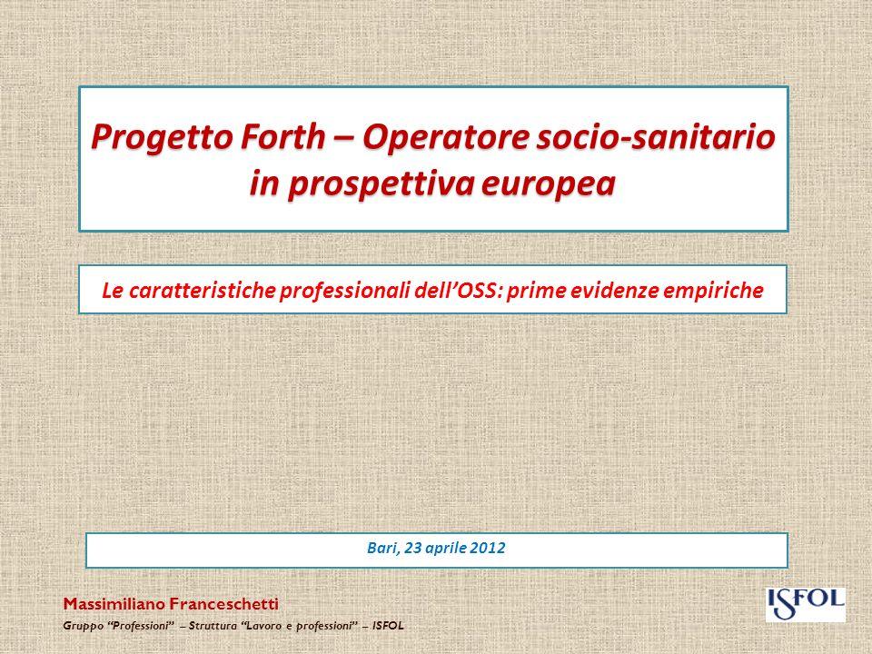 Scenario europeo Gli esperti della Commissione sottolineano come, innanzitutto, loccupazione nel settore della SALUTE e dei SERVIZI SOCIALI cresce più rapidamente che negli altri settori delleconomia.
