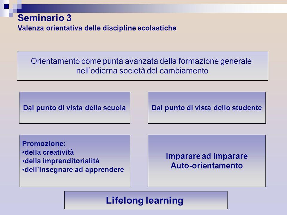 Orientamento come punta avanzata della formazione generale nellodierna società del cambiamento Dal punto di vista della scuola Dal punto di vista dell