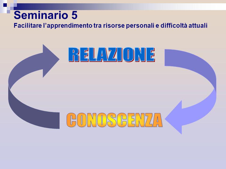 Seminario 5 Facilitare lapprendimento tra risorse personali e difficoltà attuali