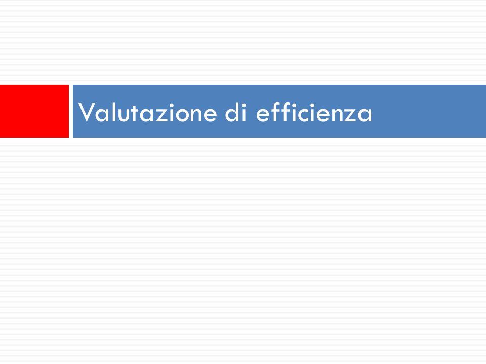 Valutazione di efficienza