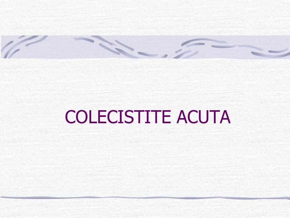 COLANGITE ACUTA SUPPURATIVA OSTRUTTIVA CALCOLI STENOSI DELLA PAPILLA CA.