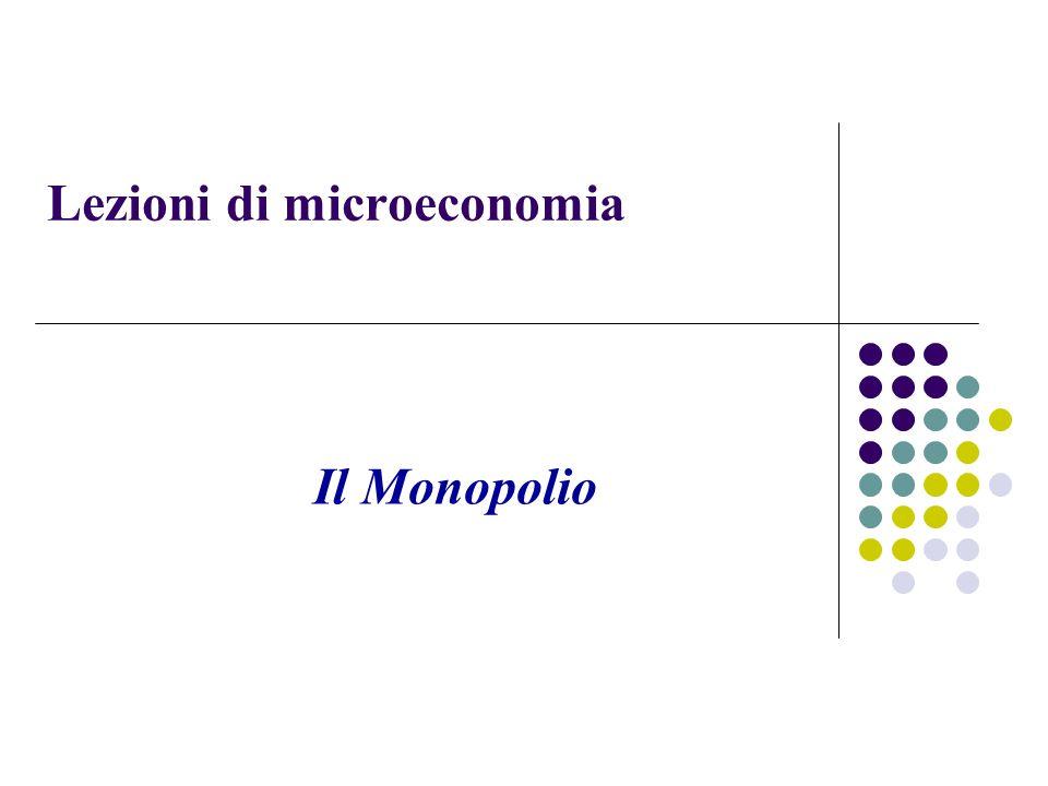 Lezioni di microeconomia Il Monopolio